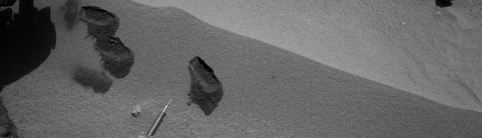 I primi tre Morsi nel terreno marziano di Curiosity